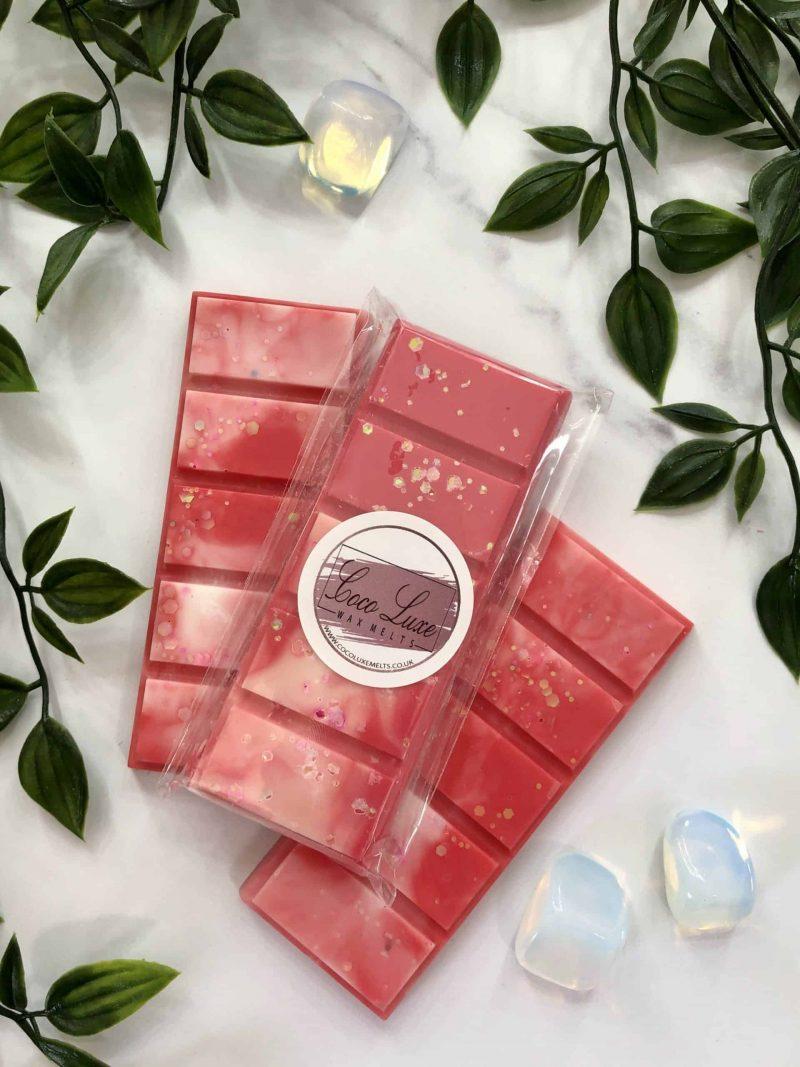 Strawberry & Rhubarb Wax Melt Back
